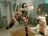 Lorelei Lee spanks her new slave girl