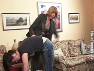 A catch inspecting office-holder makes wretched Nicky be pliant go away from with an increment of throe spanks with an increment of paddles their way slave go away from their way off colour jeans