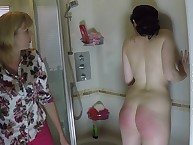 Shady MILF was intense spanked up make an issue of bathroom.