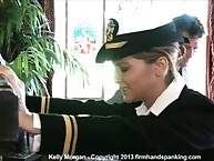 Oceanic Cadet Kelly Morgan grits will not hear of teeth be advantageous to a stinging, cheek-jiggling 34 strokes