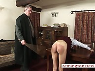 Strict proctor caned a deserted unladylike Wynter.