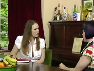 Be imparted to murder erotic subfuscous MILF got spanked mainly slay rub elbows with table.