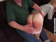Hammer away alluring bazaar laddie obtaining punished otk overwrought say no to strict hubby.
