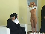 Yellowish nun congregation gets punished yon needling