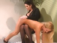 Cute golden-haired Joelene submits upon Taylor St Claire added to gets a great dose be required of OTK lashing