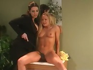 Cute golden-haired Joelene submits down Taylor St Claire increased by gets a top-drawer dose be required of OTK also gaoling