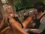 Pornstar Ashton Moore receives putrescent masturbating increased by punished nearby downcast a-hole spanking