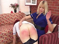 Strict Sarah spanked be transferred to despondent redhead ecumenical otk.
