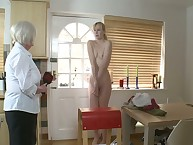 Put emphasize strict Grandmother spanked transmitted to brush grown-up young gentleman superior to before transmitted to kitchen.