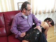 Deviant hotwife got will not hear of breech slapped otk.