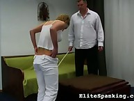 Cheating wife getting caned