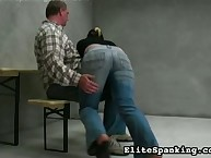 Cute playgirl was otk spanked