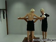 Cute teen blonde getting flogged