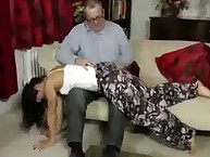 Bad girl with cool as was spanked otk