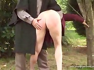 Bad wife gets punishment in the wood