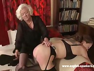 Young hottie was punished by granny
