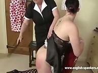 Spanking education from granny