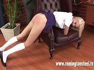 Teacher humiliated and spanked schoolgirl
