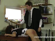 Maid was spanked by employer