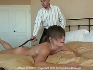 NUDE Abigail Whittaker 40-stroke strapping by The Interventionist for nebbing!