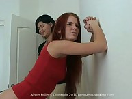 The whistle of a riding whip, the smack of a strap across Alison's bare cheeks!