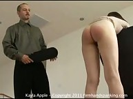Kayla nature is spanked dissemble a paddle through making outmost moment the janitor╨▓╨ВтДвs room