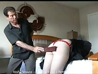 """61 with a tawse: serious student Alisha Strauss pays for """"borrowing"""" a computer"""