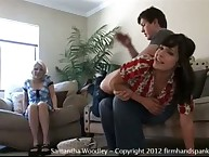 Samantha learns house spanking rules