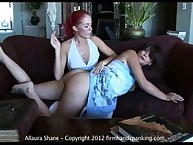 Lesbian spanking with oung Alison Miller