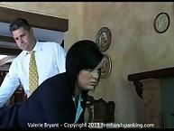 Valerie Bryant learns spanking discipline