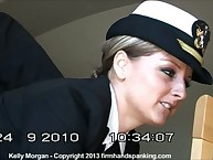 Kelly Morgan got military spanking punishment