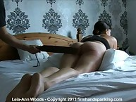 Wife gets Painful paddling on the bed
