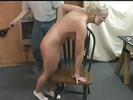 Sophie's minor leather Paddle Spanking