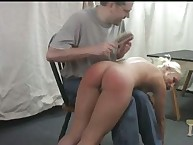 Sophie has her ass flogged by hairbrush