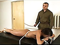 Face Down on Table and get hard Caned