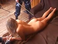 Hot blond was punished