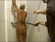 Wet spanking in the shower