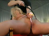 Pussy open and whipped hard