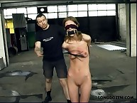 Titswhipping for gagged blindfolded teeny