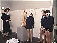 Nasty school girls were spanked and humiliated