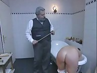 Caning in bathroom