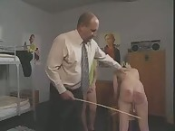 Two Innocent Girls Take Caning Punishment