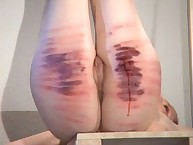 Sexy spanking with strict mistress