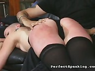 Stunning femme has her derriere trounced