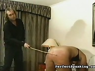 Spankmaster caned chubby blonde well