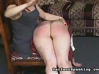 Mistress over the knee spanked her sluts
