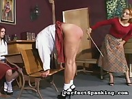Harsh ass punishment from headmistress