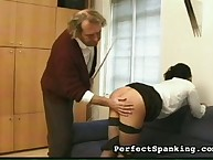 Good caning for young wife