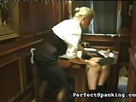 Young secretary got spanking discipline