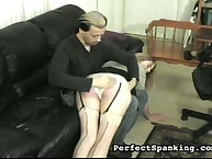 Bubble butt wants OTK spanking